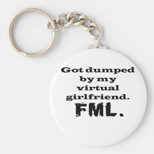 FML Virtual Girlfriend Key Chains