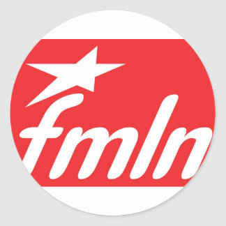 fmln El Salvador Pegatina Redonda