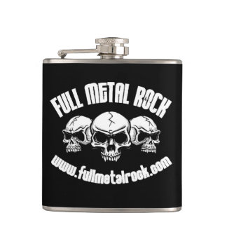 FMR Old Skool Skull Logo Flask