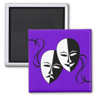 FMS Comedy & Tragedy 2 Inch Square Magnet