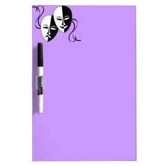 FMS Comedy & Tragedy Dry-Erase Board
