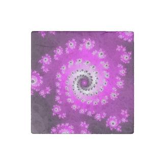 FMS Spiral Fractal Stone Magnet
