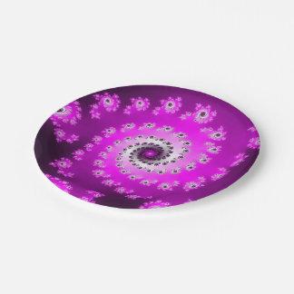 FMS Spiral Fractal Paper Plate