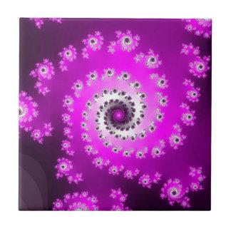 FMS Spiral Fractal Small Square Tile