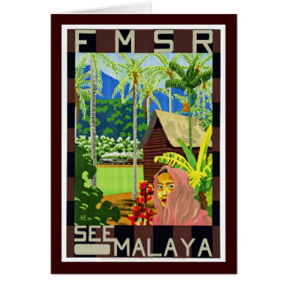 FMSR See Malaya Greeting Card