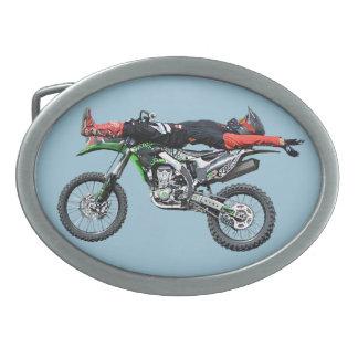 FMX - Freestyle Aerial Motocross Stunt III Belt Buckle