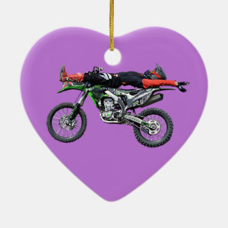 FMX - Freestyle Aerial Motocross Stunt III Ceramic Ornament