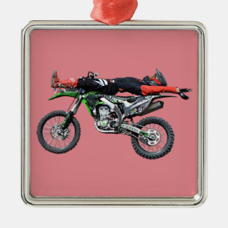 FMX - Freestyle Aerial Motocross Stunt III Metal Ornament