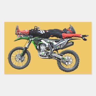 FMX - Freestyle Aerial Motocross Stunt III Rectangular Sticker