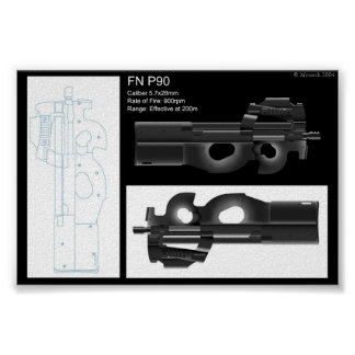 FN P90 Stat Sheet Poster