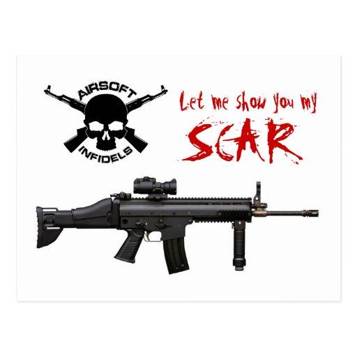 FN SCAR Airsoft postcard