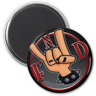 FnD Horns Fridge Magnet