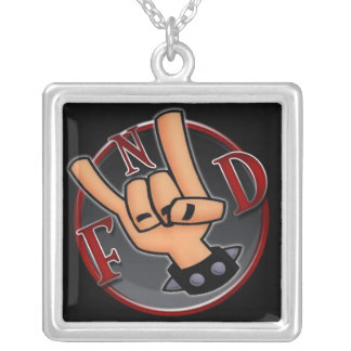 FnD square necklace