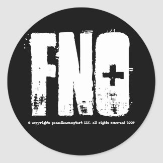 fno, © copyrights pascalleconceptart LLC. all r... Sticker