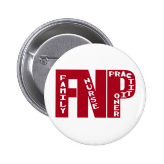 FNP Big Red Family Nurse Practitioner Gifts 2 Inch Round Button