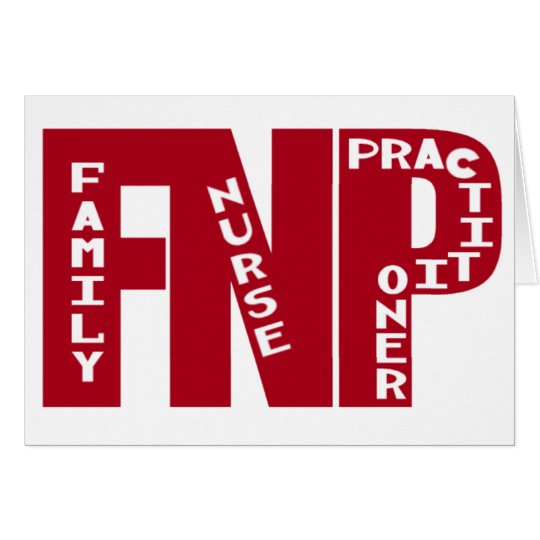 FNP Big Red Family Nurse Practitioner Gifts Card