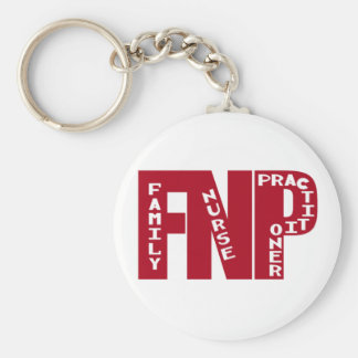 FNP Big Red Family Nurse Practitioner Gifts Keychain