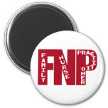 FNP Big Red Family Nurse Practitioner Gifts Magnets