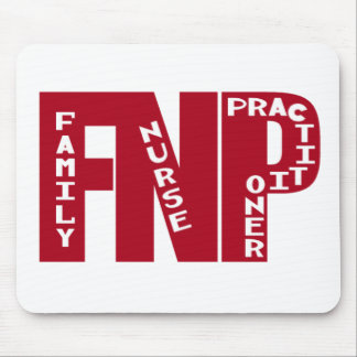 FNP Big Red Family Nurse Practitioner Gifts Mouse Pad