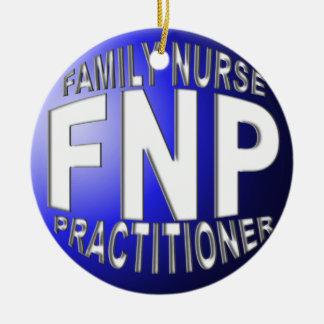 FNP BLUE BALL CHRISTMAS ORNAMENT FAMILY NURSE PRAC