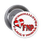 FNP CIRCULAR LOGO FAMILY  NURSE PRACTITIONER PINBACK BUTTON