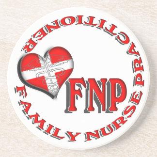 FNP FAMILY NURSE PRACTICIONER MEDICAL LOGO COASTER