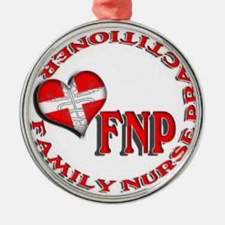 FNP FAMILY NURSE PRACTITIONER ORNAMENT HEART CROSS