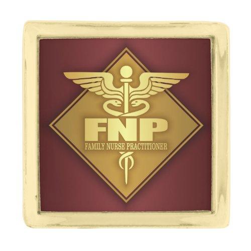 FNP (gold)(diamond) Gold Finish Lapel Pin