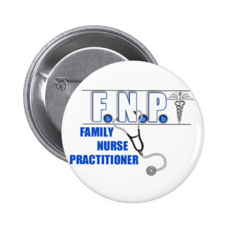 FNP  LOGO  STETHOSCOPE FAMILY NURSE PRACTITIONER 2 INCH ROUND BUTTON