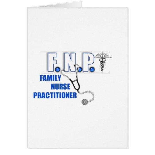 FNP  LOGO  STETHOSCOPE FAMILY NURSE PRACTITIONER CARD