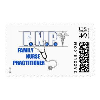 FNP  LOGO  STETHOSCOPE FAMILY NURSE PRACTITIONER POSTAGE
