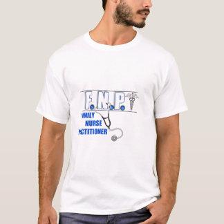 FNP  LOGO  STETHOSCOPE FAMILY NURSE PRACTITIONER T-Shirt