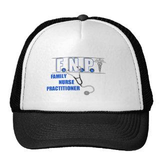 FNP  LOGO  STETHOSCOPE FAMILY NURSE PRACTITIONER TRUCKER HAT