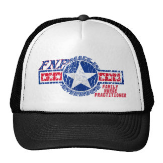 FNP MADE IN AMERICA FAMILY NURSE PRACTITIONER TRUCKER HAT