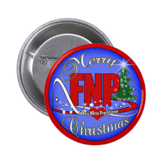 FNP MERRY CHRISTMAS - FAMILY NURSE PRACTITIONER 2 INCH ROUND BUTTON