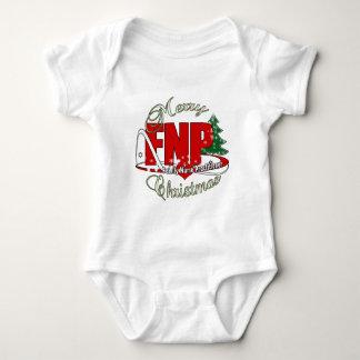 FNP MERRY CHRISTMAS Family Nurse Practitioner Baby Bodysuit
