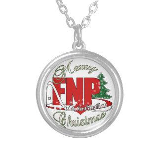 FNP MERRY CHRISTMAS Family Nurse Practitioner Pendant