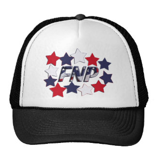 FNP PATRIOTIC STARS - FAMILY NURSE PRACTITIONER TRUCKER HAT