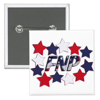 FNP PATRIOTIC STARS - FAMILY NURSE PRACTITIONER PINBACK BUTTON