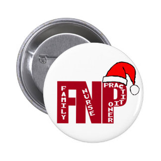 FNP SANTA - CHRISTMAS - FAMILY NURSE PRACTITIONER 2 INCH ROUND BUTTON