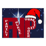 FNP SANTA - CHRISTMAS - FAMILY NURSE PRACTITIONER GREETING CARD