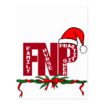 FNP SANTA - CHRISTMAS - FAMILY NURSE PRACTITIONER POSTCARD