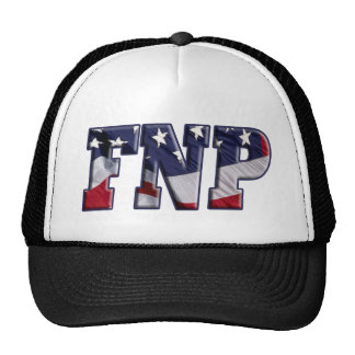 FNP USA FLAG WRAPPED FAMILY NURSE PRACTITIONER TRUCKER HAT