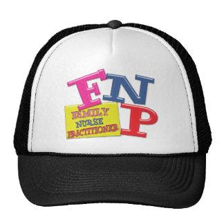 FNP WHIMSICAL ACRONYM FAMILY NURSE PRACTITIONER TRUCKER HAT