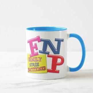 FNP WHIMSICAL ACRONYM FAMILY NURSE PRACTITIONER MUG