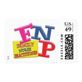 FNP WHIMSICAL ACRONYM FAMILY NURSE PRACTITIONER POSTAGE
