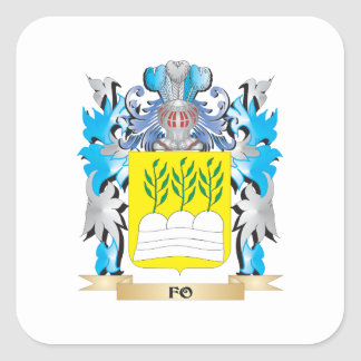 Fo Coat of Arms - Family Crest Square Sticker