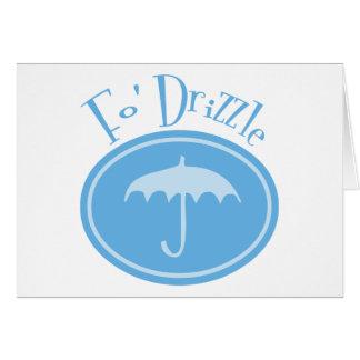 Fo' Drizzle Retro Umbrella - Blue Card