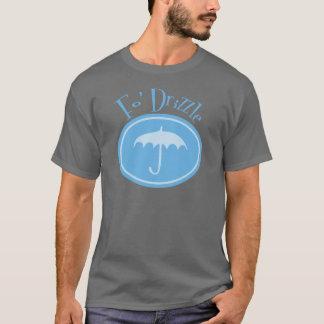 Fo' Drizzle Retro Umbrella - Blue T-Shirt