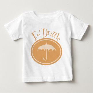 Fo' Drizzle Retro Umbrella - Orange Baby T-Shirt